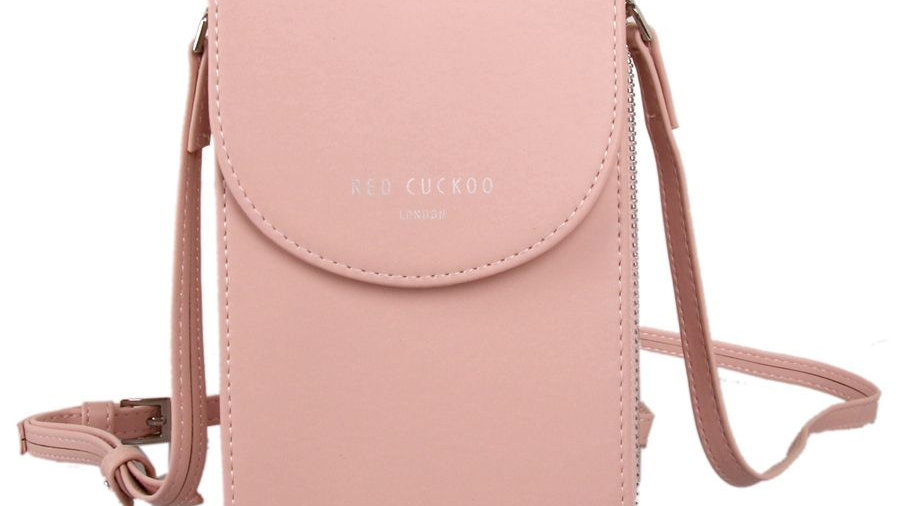 Red Cuckoo Pink Cross Body Pouch