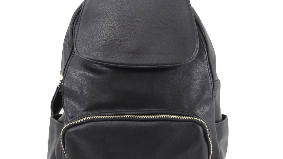 Black Classic Flap Over Backpack