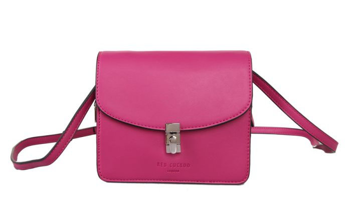 Red Cuckoo Hot Pink Cross Body Bag With Lock Fastening