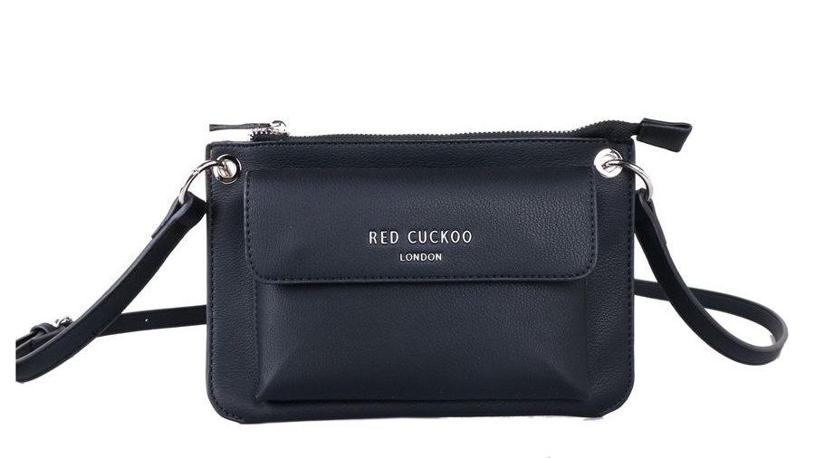 Red Cuckoo Black Cross Body Bag