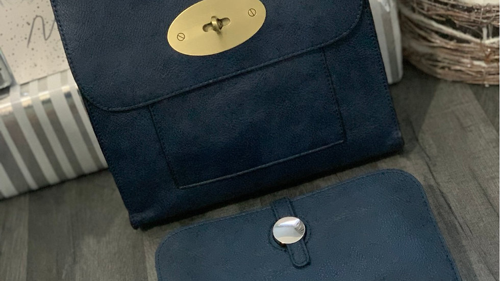 Navy Inspired Crossbody & Inspired Purse with Card Holder