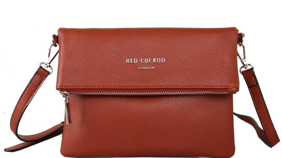 Red Cuckoo Rust Fold Over Crossbody