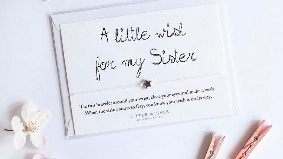 Little Wishes Bracelet - For My Sister