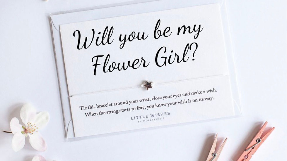 Little Wishes Bracelet - Will you be my Flower Girl?