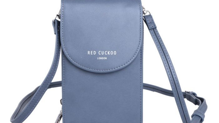 Red Cuckoo Blue Cross Body Pouch