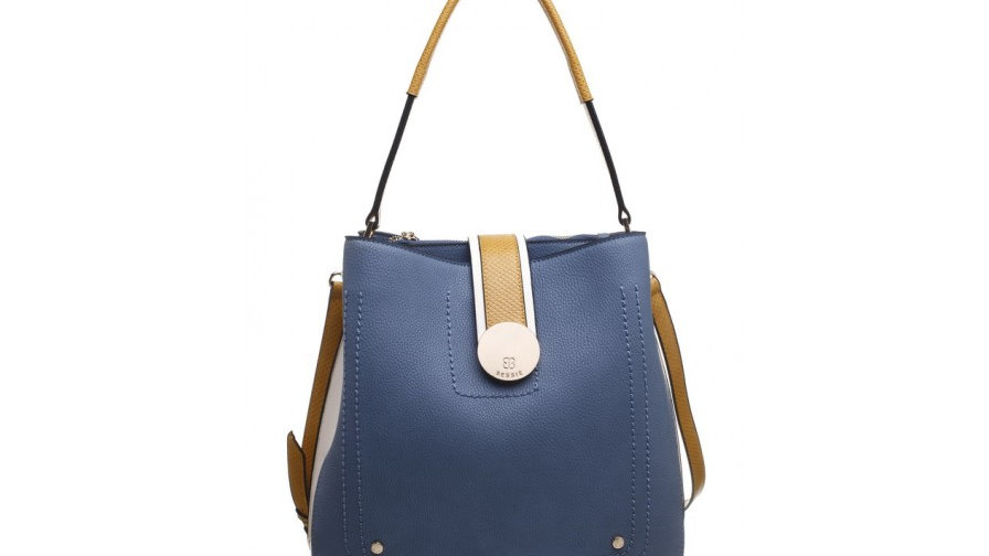 Bessie London Three Tone Shoulder Bag