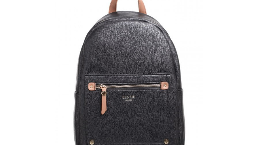 Bessie London Classic Black Two Tone Backpack