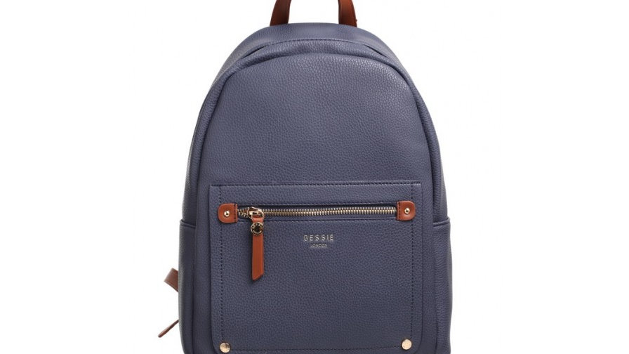 Bessie London Classic Navy Two Tone Backpack