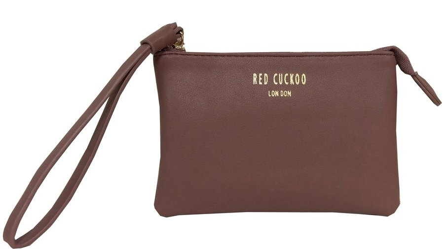 Red Cuckoo Dusky Purple Soft Touch Coin Purse