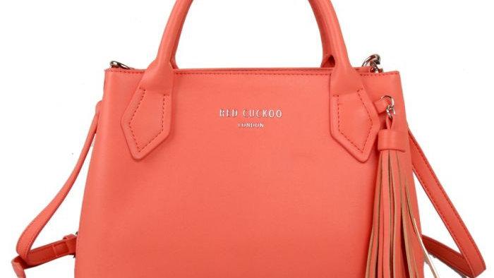 Red Cuckoo Coral Tassel Grab Bag