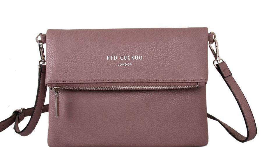 Red Cuckoo Dusky Purple Fold Over Crossbody