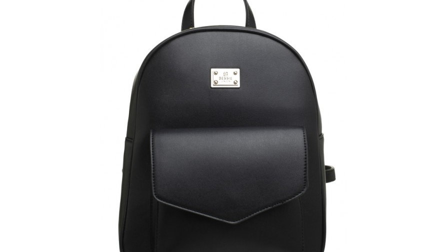 Bessie London Black Classic Flap Top Front Pocket Backpack