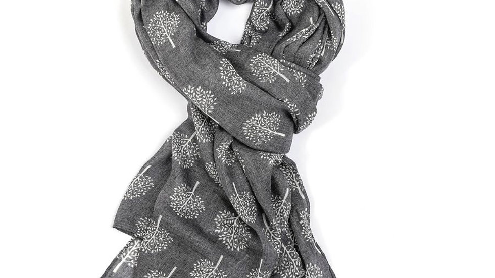 Grey and White Mulberry Tree Scarf