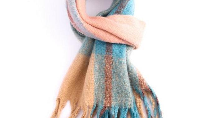 Multi Colour Blue Thick Winter Scarf