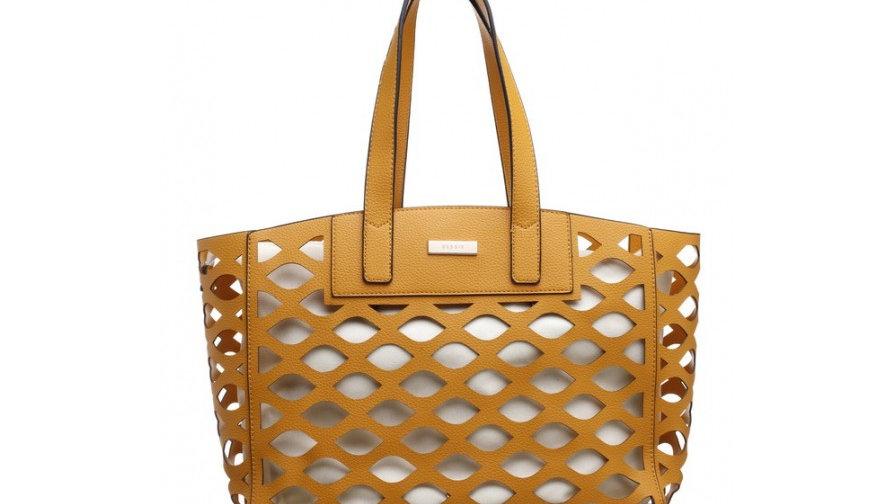 Bessie London Laser Cut Bag in Bag Beachbag/Shopper