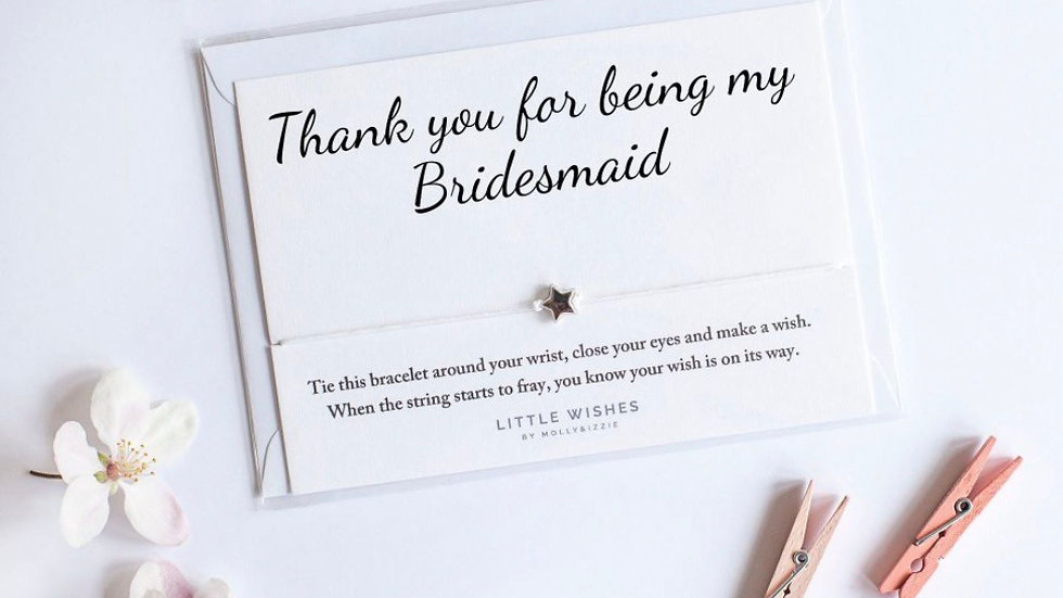 Little Wishes Bracelet - Thank You for being my Bridesmaid