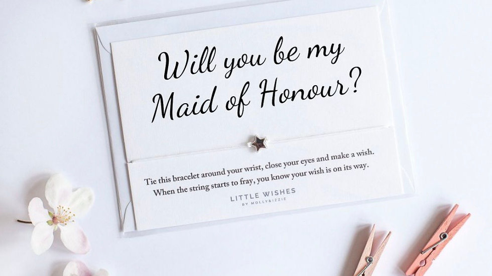 Little Wishes Bracelet - Will you be my Maid of Honour?