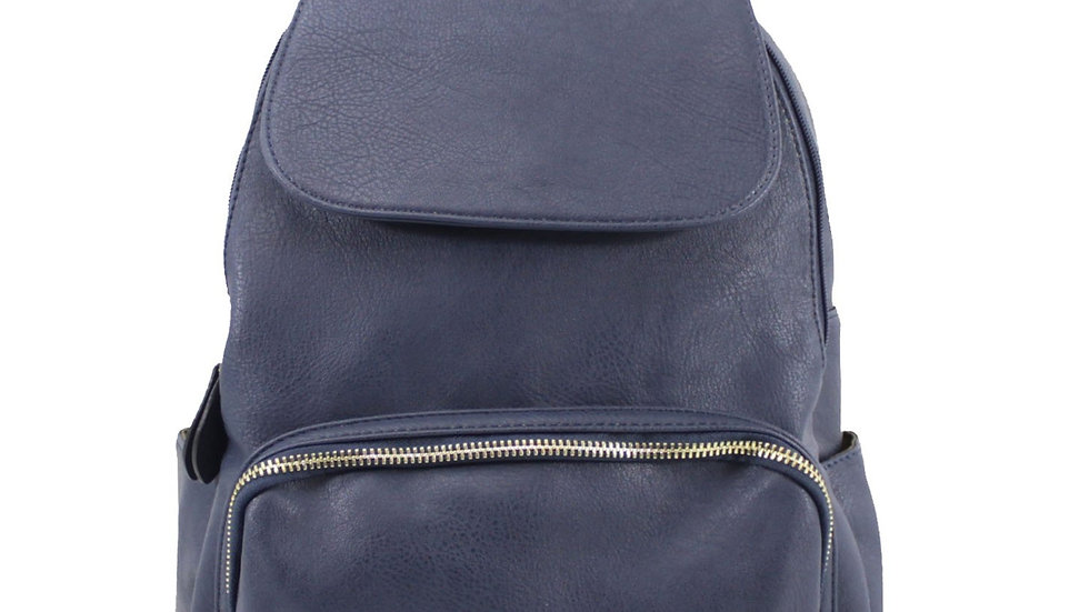 Navy Classic Flap Over Backpack