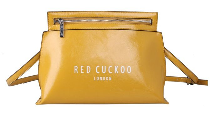 Red Cuckoo Yellow Zip Fastening Cross Body