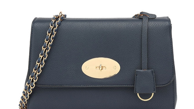 Navy Lily Inspired Chain Strap Bag