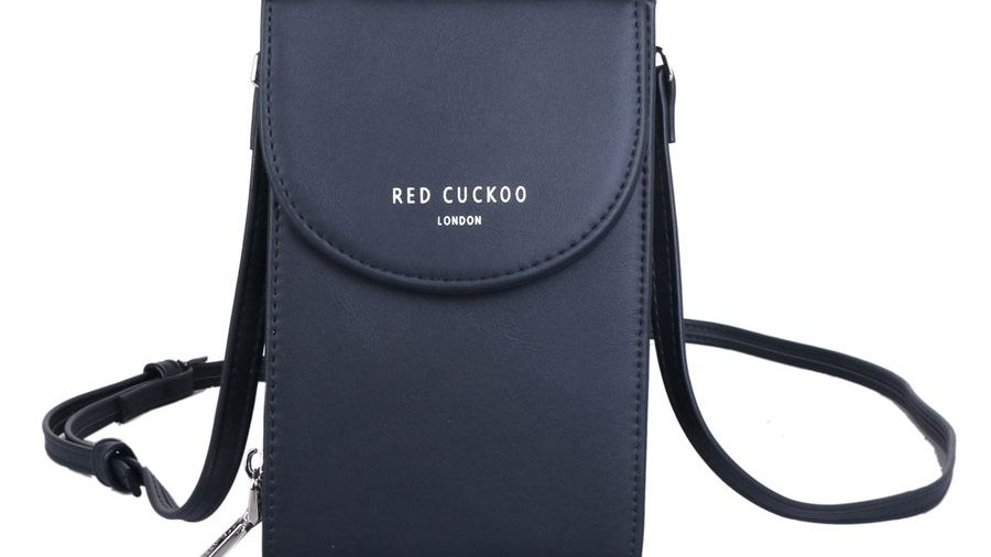 Red Cuckoo Black Cross Body Pouch