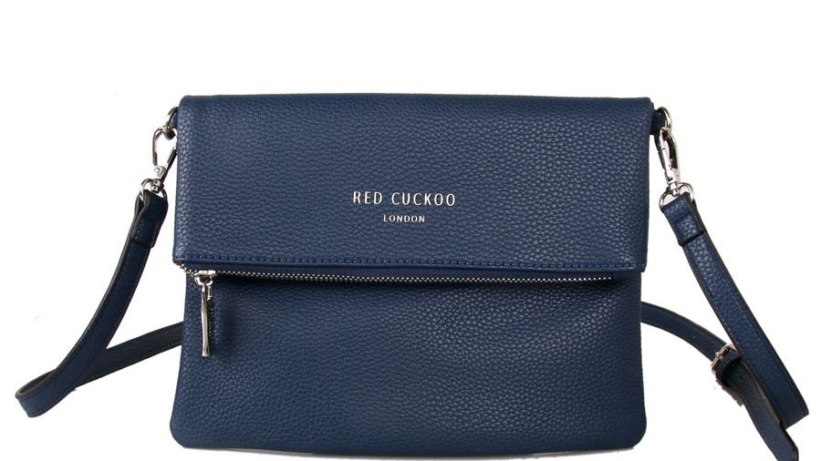 Red Cuckoo Navy Fold Over Crossbody