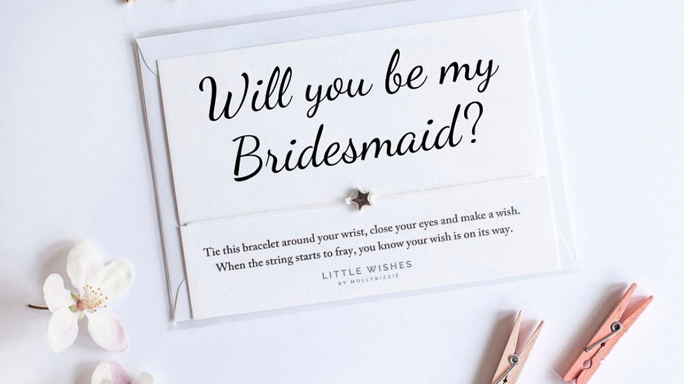 Little Wishes Bracelet - Will you be my Bridesmaid?