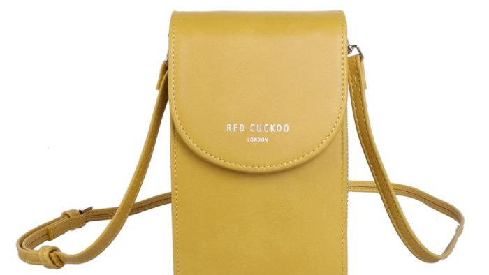 Red Cuckoo Yellow Cross Body Pouch
