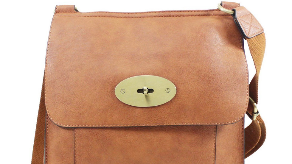Large Tan Inspired Crossbody