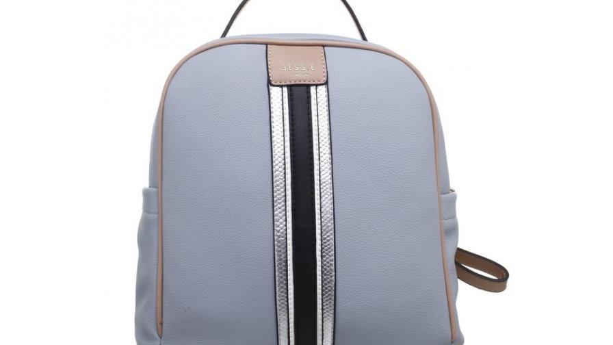 Bessie London Blue Multi Colour Top Handle Backpack
