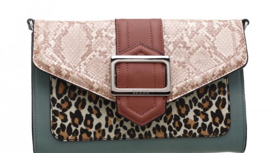 Bessie London Wild Flap-Over Buckle Bag