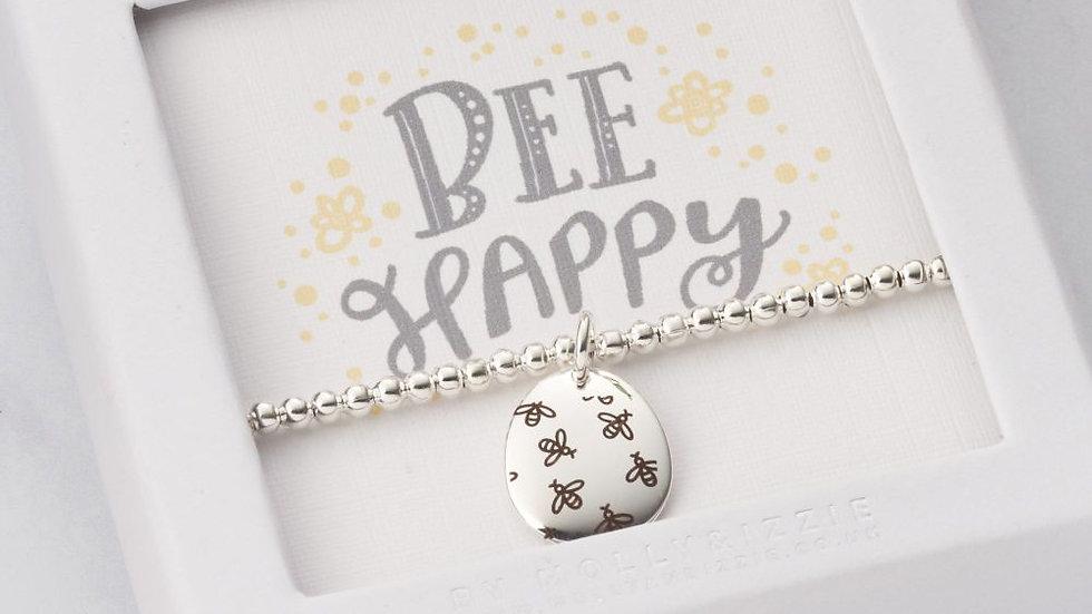 'Bee Happy' Beaded Bracelet