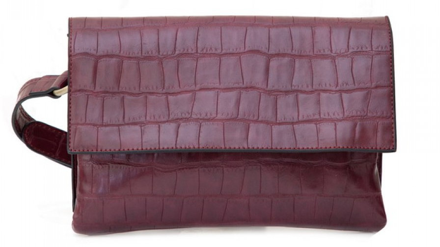 Bessie London Red Croc Effect Bag