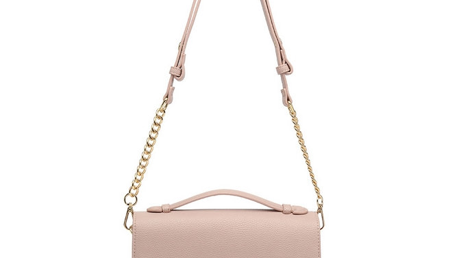 Inspired Nude Pink Chain Strap Crossbody