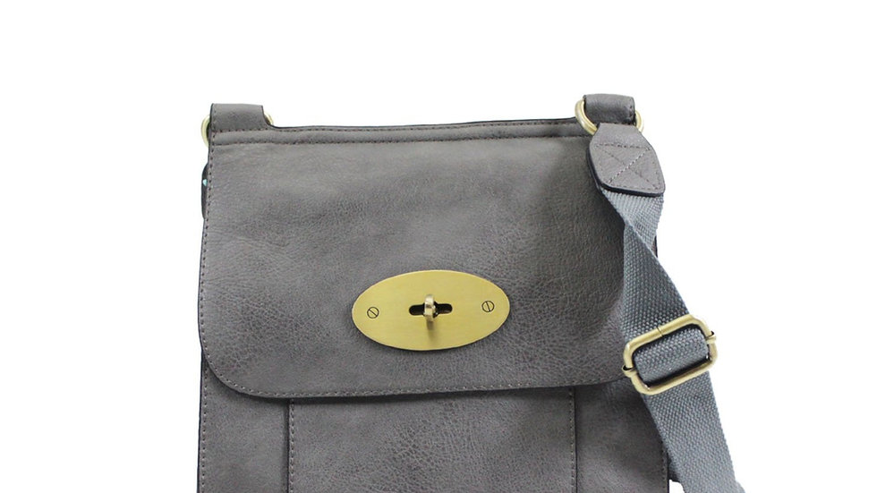 Dark Grey Medium Classic Crossbody
