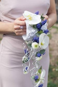 Bouquet moderne retombant