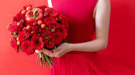 Bouquet de légume rouge