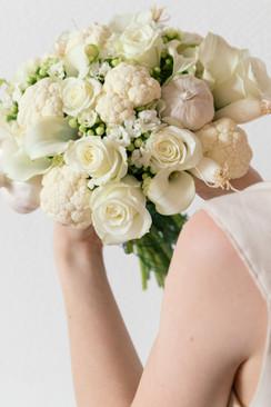 Bouquet de légumes blanc
