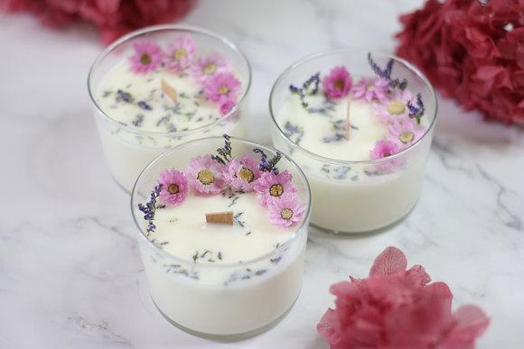 Bougie florale S