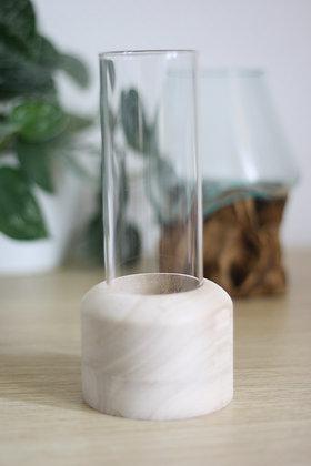 Soliflore avec socle en bois