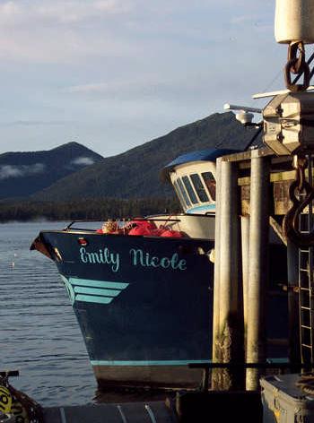 Unloading the Emily Nicole