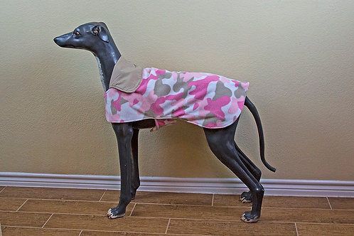 New Pink Camo Fleece Jacket