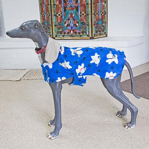 Blue Fleece Greyhound Coat