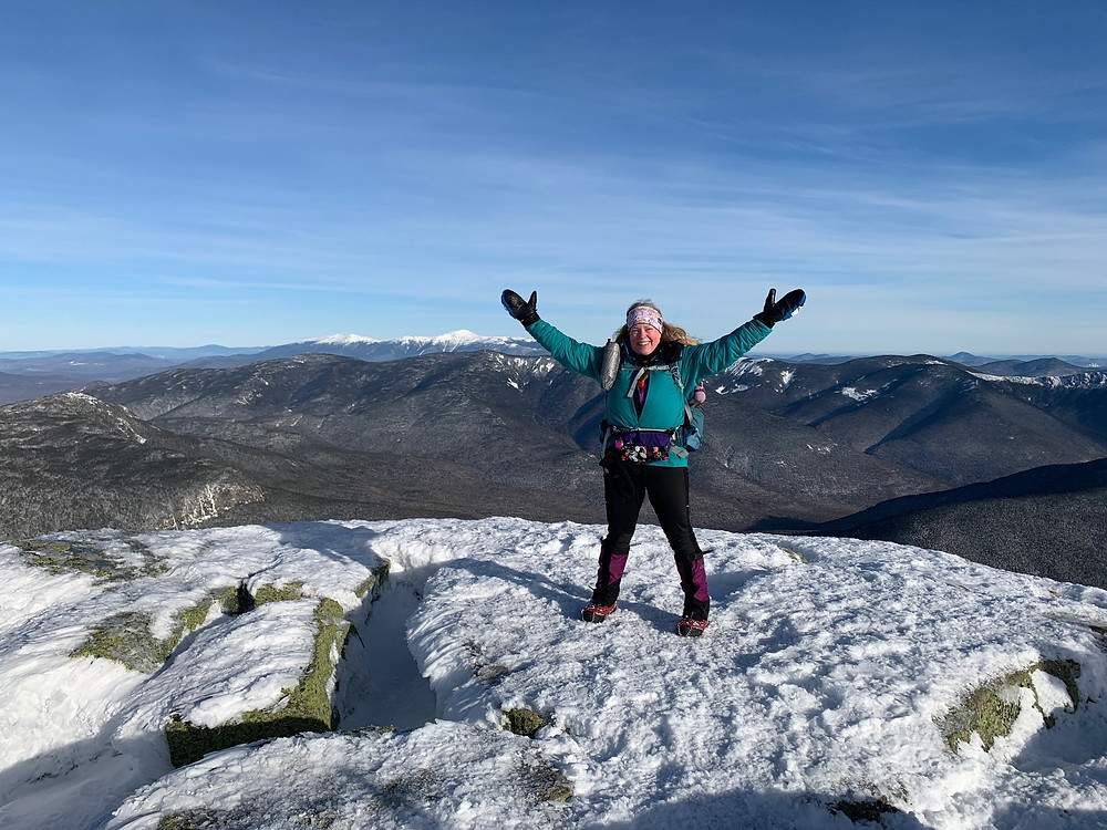 My big snowy finish of NH's 48 Four Thousand Footers! Who knew I was surrounded by P. Syringae all day! Microbes!