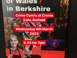 Crime Cymru / Welsh Crime at Crema, Binfield