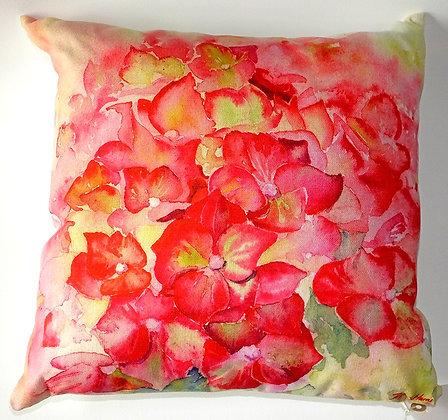 Ruby Tuesday Hydrangea cushion