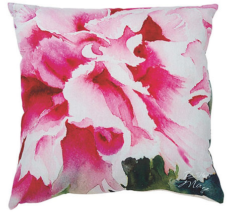 Peony - May flower of the month cushion