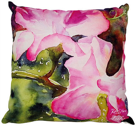 Sweet Peas - July flower of the month cushion