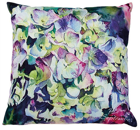Hydrangea - September flower of the month cushion