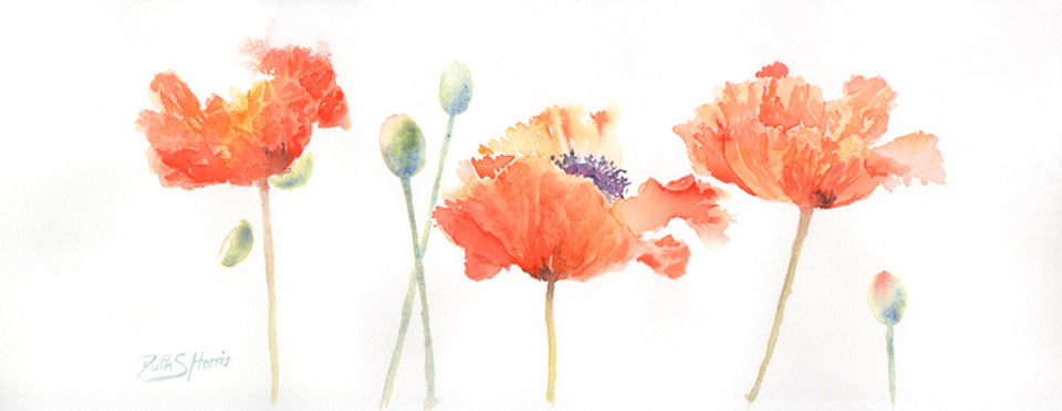 watercolour floral art